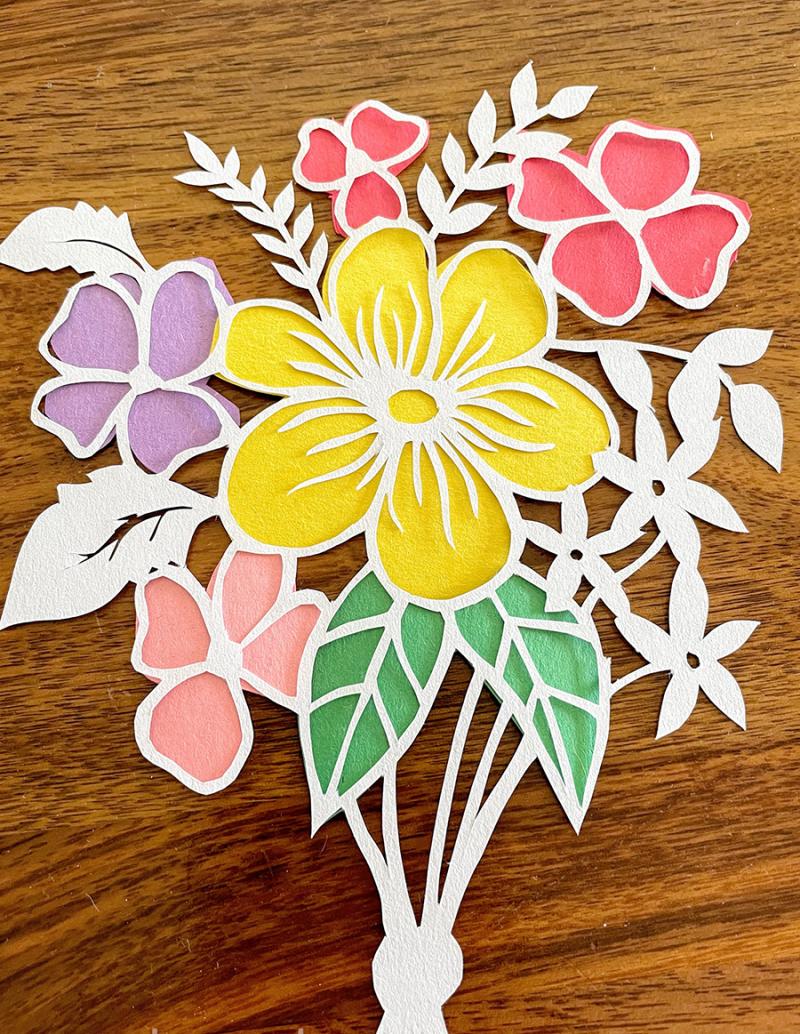 Flower-cut-silhouette