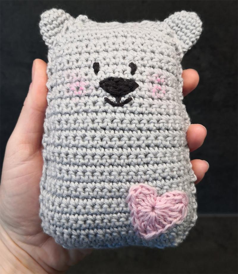 Crocheted-simple-bear-toy