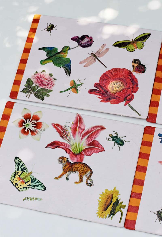 Decoupage-vintage-images-placemats