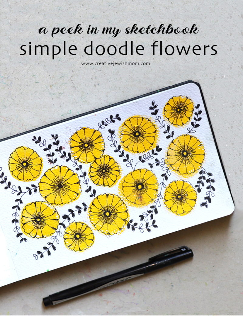 Simple-doodle-flowers-yellow
