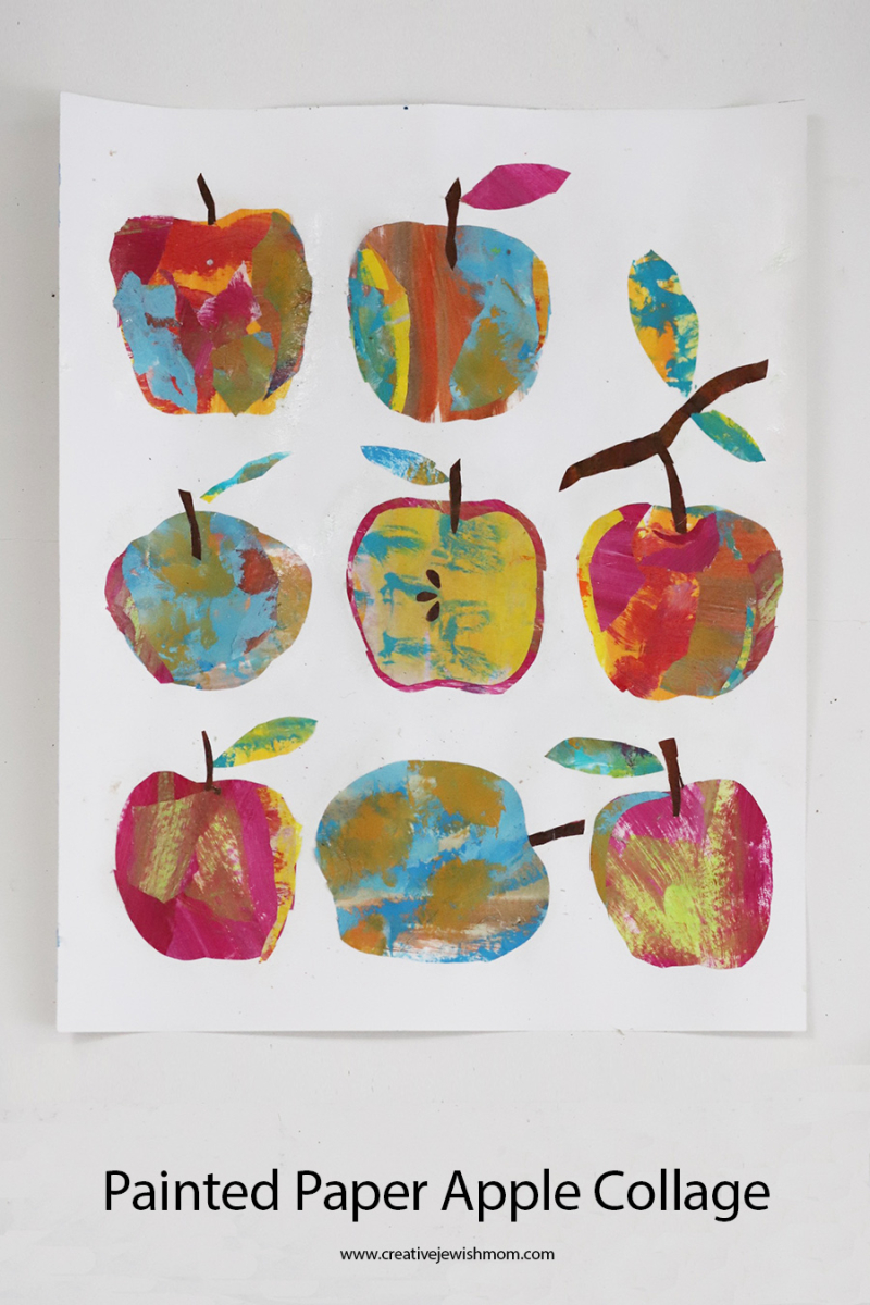 Painted-paper-apple-collage