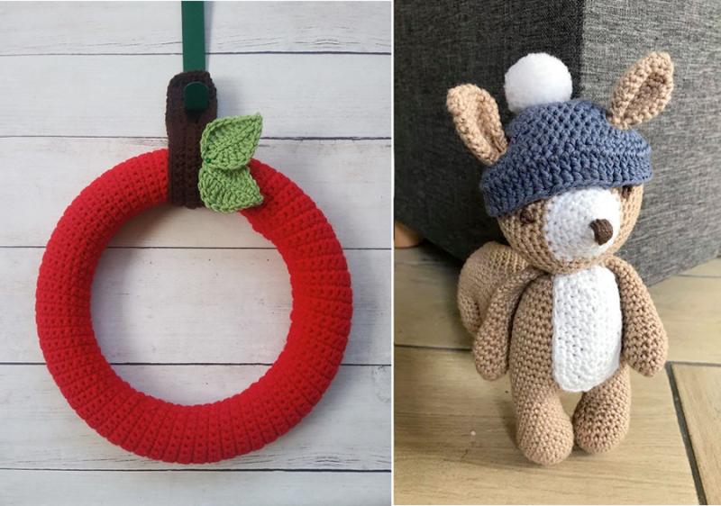 Crocheted-mice-baby-gift